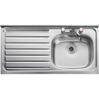 Leisure Roll Front 1.0 Bowl Stainless Steel Kitchen Sink with LH Drainer