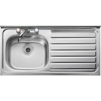 Leisure Roll Front 1.0 Bowl Stainless Steel Kitchen Sink with RH Drainer