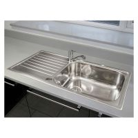 Reginox Minister Large Bowl Reversible Stainless Steel Kitchen Sink & Tap Pack