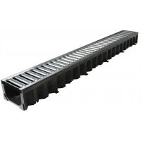 ACO HexDrain Channel with Galvanised Steel Grating 1m