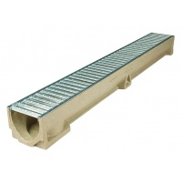ACO RainDrain Channel with Galvanised Steel Grating 1m