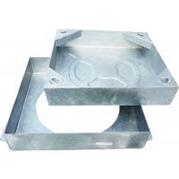 Square to Round Recessed Manhole Cover & Frame 300 x 300mm