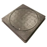 Square to Round Manhole Cover & Frame 300 x 300mm (35kN)