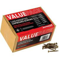 Chipboard Screws Assorted Pack of 1200