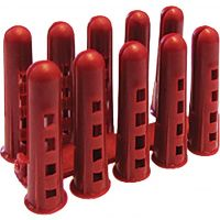 Rawlplug Contract Wall Plugs Red Pack of 100