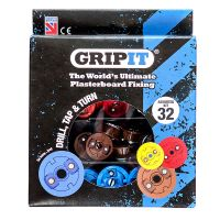 GRIPIT PLASTERBOARD FIXINGS ASSORTED KIT Pk32