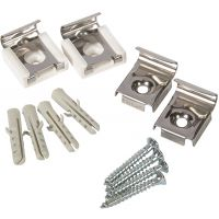 Mirror Fixing Set For Bevelled Mirrors With Spring Clips