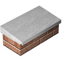 Once Weatehred Concrete Coping Stone 305 x 610mm