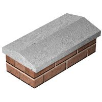 Concrete Coping Stone 275 x 610mm
