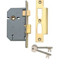 Union Y2277 3 Lever Mortice Sashlock Polished Brass 65mm