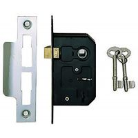 Dale 3 Lever Mortice Sashlock Nickel 63mm