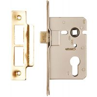 Dale Euro Mortice Sashlock Brass Plated 63mm