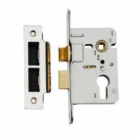 Dale Euro Mortice Sash Lock Stainless Steel 76mm