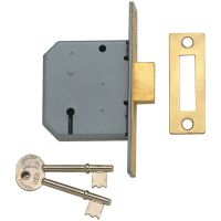 Union Y2177 3 Lever Mortice Deadlock Polished Brass 63mm