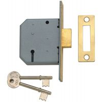 Union Y2177 3 Lever Mortice Deadlock Polished Brass 76mm