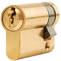Dale Euro Cylinder Single Brass 35mm