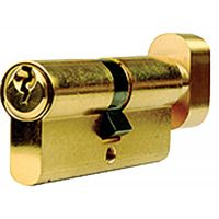 Dale Euro Cylinder Thumb Turn Brass 35/10/45