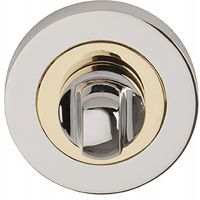 Orbit Bathroom Thumb Turn Set Polished Chrome/Brass Plated