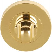 Dale Bathroom Thumb Turn Set Polished Brass