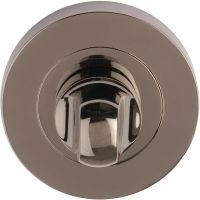 Bathroom Thumb Turn Set Black Nickel