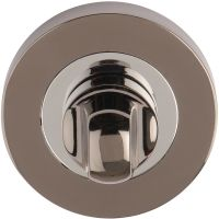 Bathroom Thumb Turn Set Black Nickel / Polished Chrome