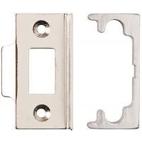 Economy Rebated Mortice Latch Nickel Plated 63mm