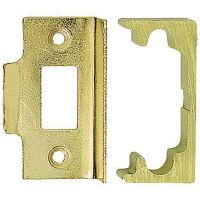 Economy Rebated Mortice Latch Brass Plated 63mm