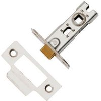 Dale Tubular Mortice Latch Nickel 63mm Bolt Through