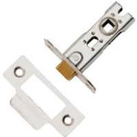 Dale Tubular Mortice Latch Nickel 76mm Bolt Through