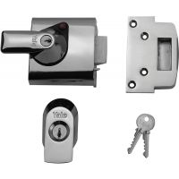 Yale P-BS1 British Standard Nightlatch Chrome/Chrome 60mm