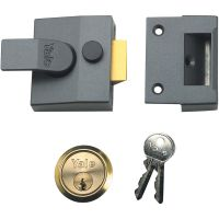 Yale P85 Deadlocking Nightlatch DMG/Polished Brass 40mm