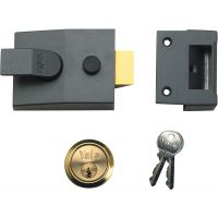 Yale P89 Deadlocking Nightlatch DMG/Polished Brass 60mm