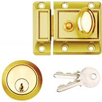 Traditional Night Latch Polished Brass 90mm
