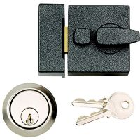 Night Latch Grey / Brass 90mm