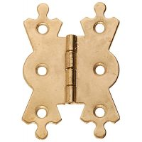 Fancy Hinges Brass Plated 50mm (PK 2)