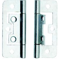 Flush Hinges Bright Zinc Plated 50mm (PK 2)