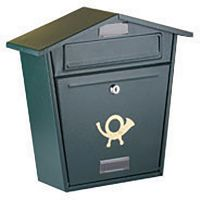Lockable Postbox Black