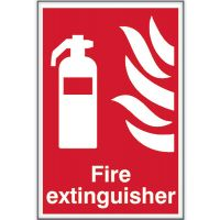 Fire Extinguisher Sign 200 x 300mm Self Adhesive