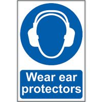 Wear Ear Protectors Sign 200 x 300mm