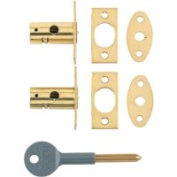 Yale 8001 Window Security Bolt Polished Brass Pk 2