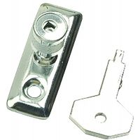 Zinc Stay locks & Key Pk 2