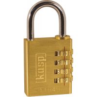 Kasp Combination Padlock Brass 40mm