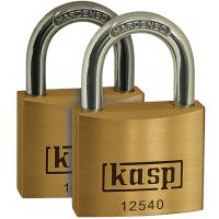 Kasp Keyed Alike Padlock Brass 40mm (PK 2)