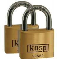 Kasp Keyed Alike Padlock Brass 50mm (PK 2)