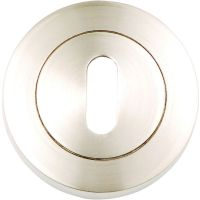 Astro Keyhole Escutcheon Satin Nickel Plated