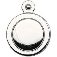 Victorian Escutcheon Covered Door Polished Chrome (Pk 2)