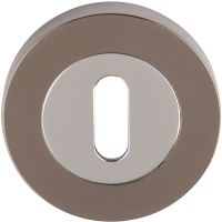 Keyhole Escutcheon Polished Chrome / Black Nickel