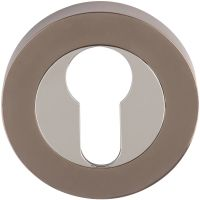 Euro Profile Escutcheon Polished Chrome / Black Nickel