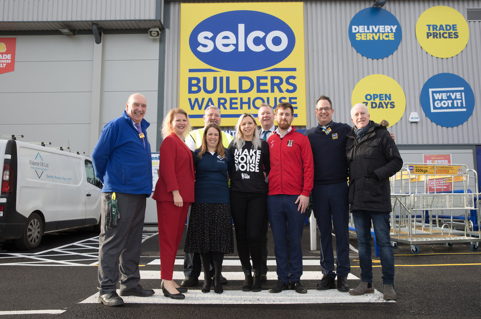 Selco and charity staff stood outside the Orpington branch.