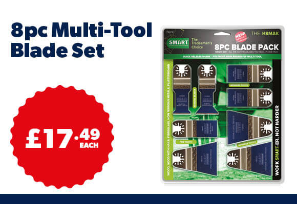 Smart Multitool Blade Assortment Pack 8pc